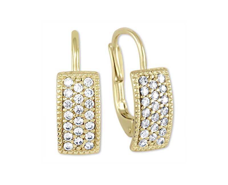 Brilio Cercei aurii galbeni frumoși 239 001 00679 - 1.85 g