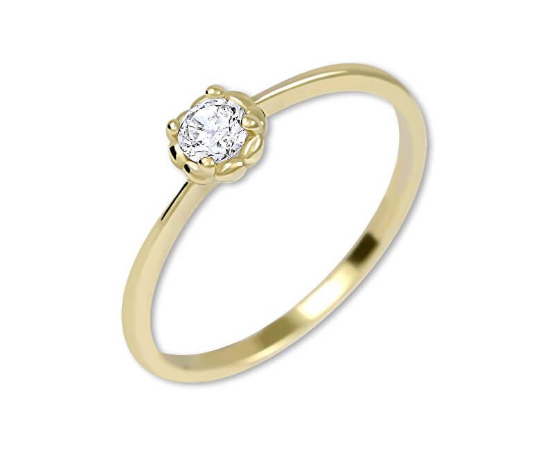 Brilio Něžný zásnubní prsten ze zlata 226 001 01034
