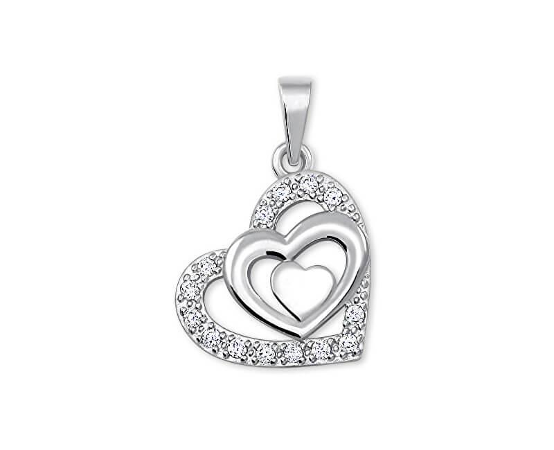 Brilio Pandantiv inima cu cristale 249 001 00556 07 - 1.10 g