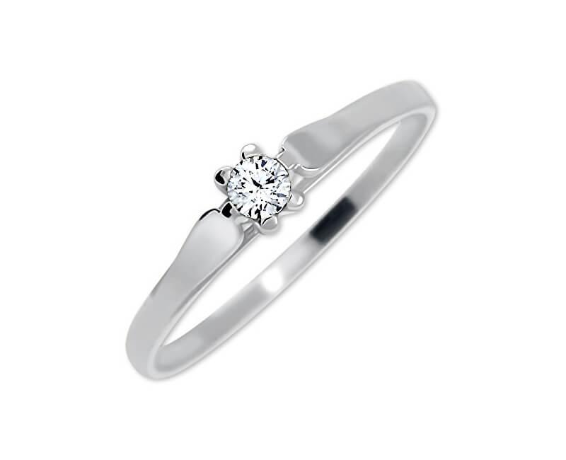 Brilio Zásnubní prsten z bílého zlata se zirkonem 226 001 00992 07