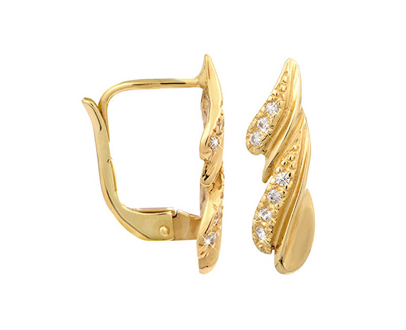 12ad84851 Brilio Zlaté náušnice s kryštálmi 239 001 00748 - 2,20 g Doprava ...