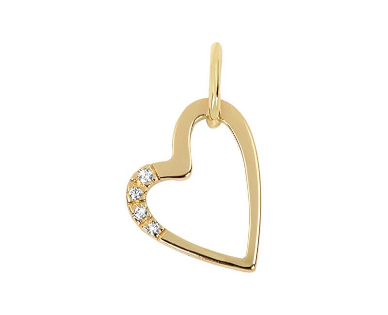 ec785568f Brilio Zlatý přívěsek srdce s krystaly 249 001 00429 | Sperky.cz
