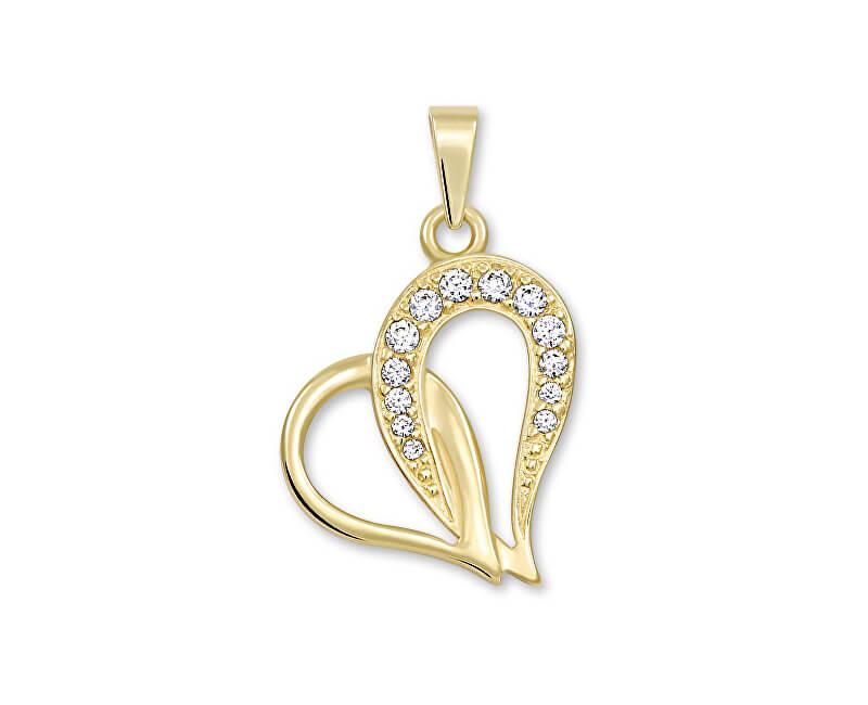 2f363115f Brilio Zlatý prívesok srdce s kryštálmi 249 001 00472 Doprava ZDARMA ...