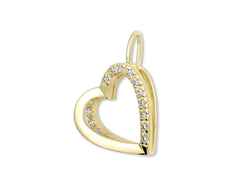 5774a66a7 Brilio Zlatý přívěsek Srdce s krystaly 249 001 00493 - 1,10 g ...