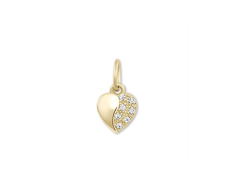 Brilio Zlatý přívěsek Srdce s krystaly 249 001 00537