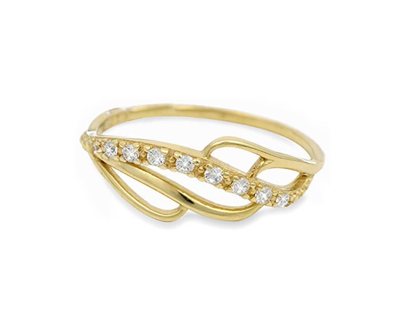 7a0ae7602 Brilio Zlatý prsteň s kryštálmi 229 001 00624 - 1,35 g Doprava ...