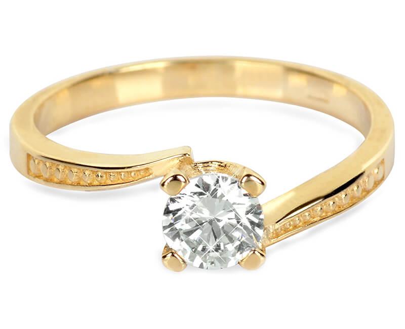 Brilio Zlatý zásnubní prsten s krystalem 226 001 01023 - 2,10 g