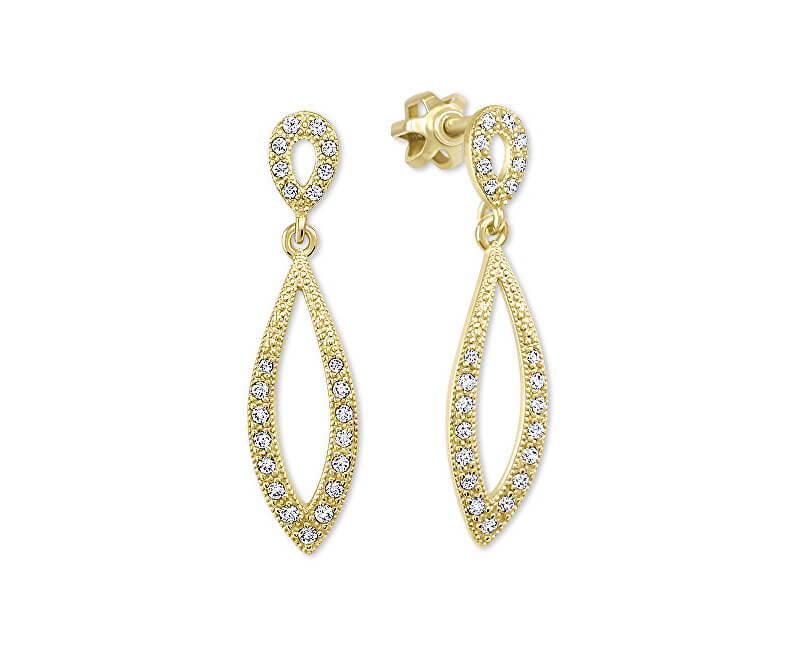 Brilio Dámské zlaté náušnice s čirými krystaly 239 001 00876 - 2 be2d054ec3d