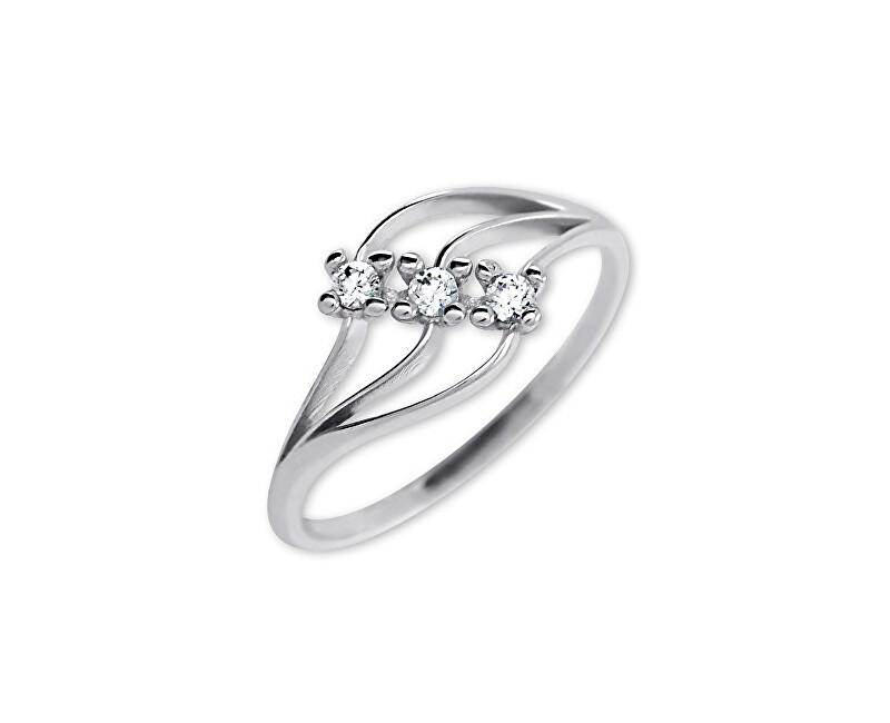 Brilio Dámský prsten s krystaly 229 001 00546 07 - 1,40 g