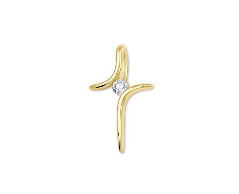 Brilio Originální zlatý křížek 246 001 00460