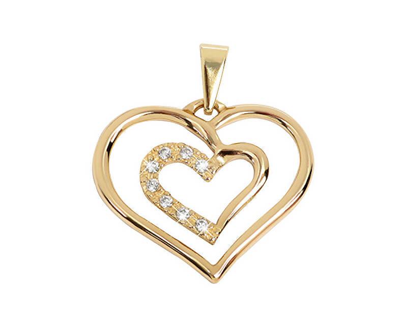 d428b5823 Brilio Něžný zlatý přívěsek Srdce 249 001 00432 - 1,05 g Doprava ...