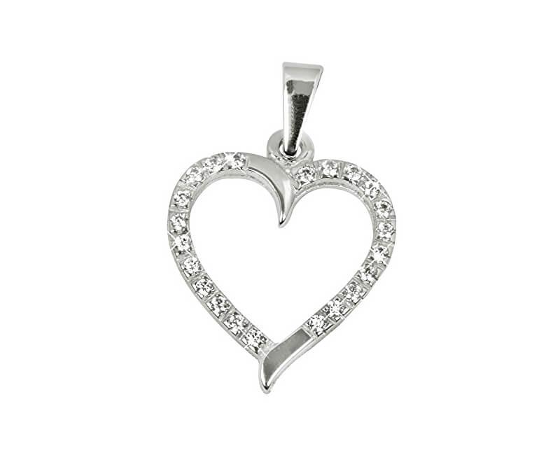 c53d10340 Brilio Zlatý prívesok Srdce s čírymi kryštálmi 249 001 00462 07 ...