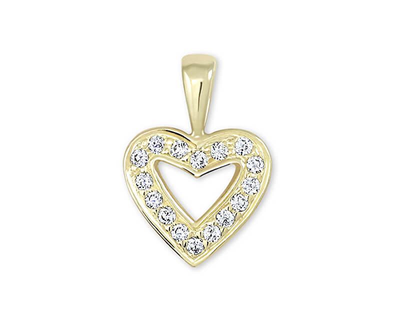 8ab60f4fd Brilio Zlatý prívesok srdce s kryštálmi 249 001 00106 - 0,75 g ...