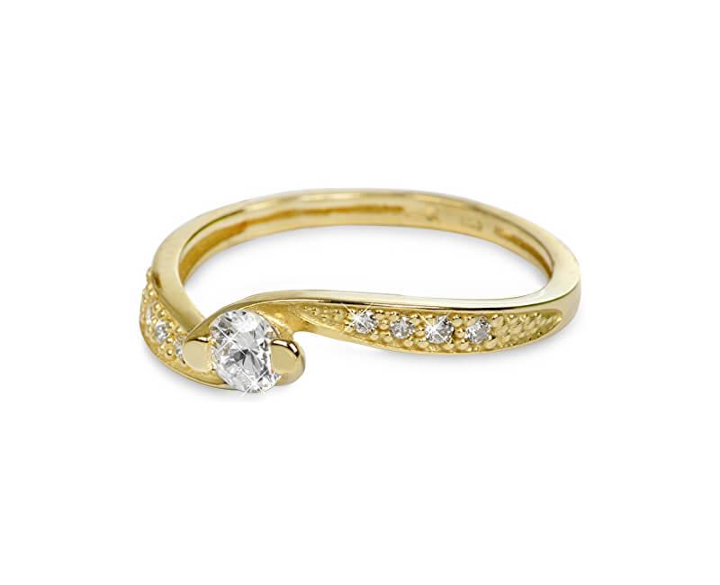 Brilio Zlatý prsten s krystaly 229 001 00458