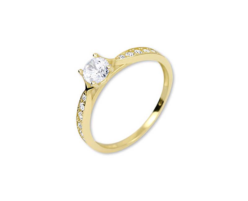 Brilio Zlatý prsten s krystaly 229 001 00753