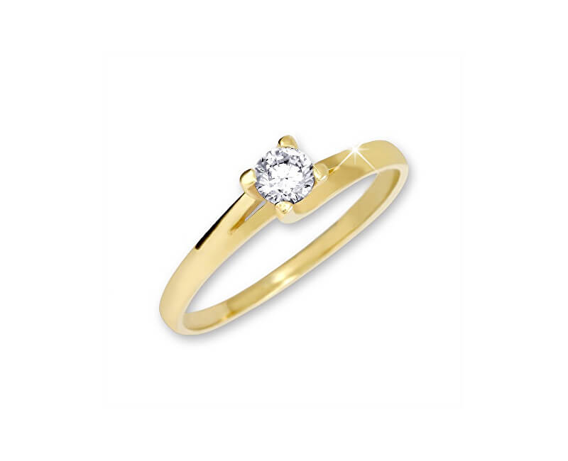 Brilio Zlatý zásnubní prsten 223 001 00090 - 1,70 g