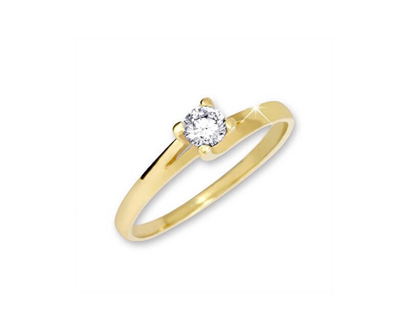 Brilio Zlatý zásnubní prsten 223 001 00090 - 1,80 g