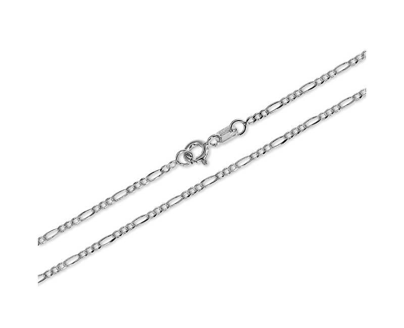 Brilio Silver Jemný řetízek ze stříbra Figaro 45 cm 471 086 00169 04