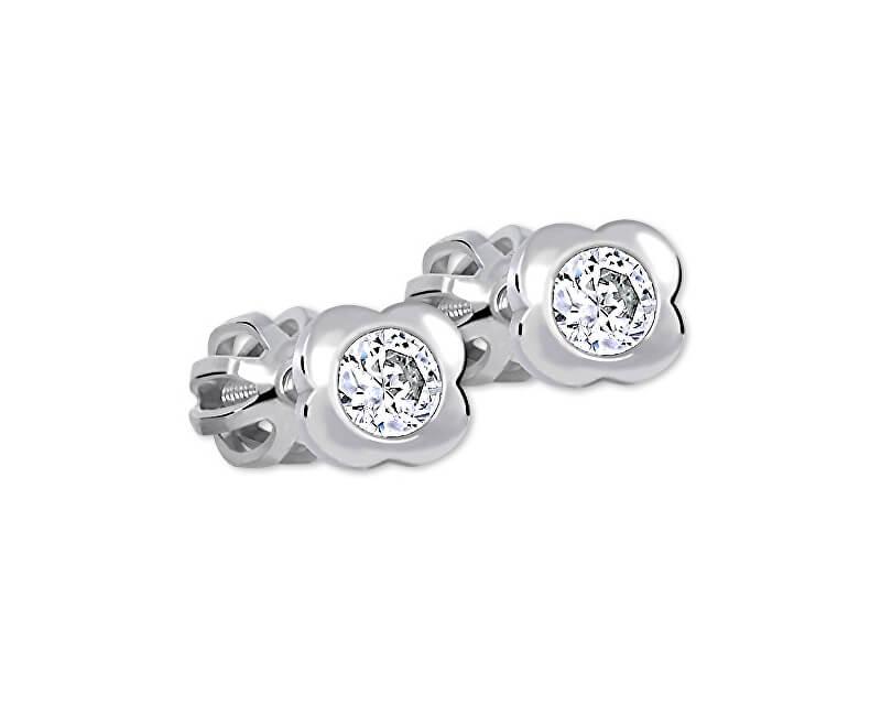 Brilio Silver Kytičkové náušnice s čirým krystalem 436 001 00124 04 - 0,90 g
