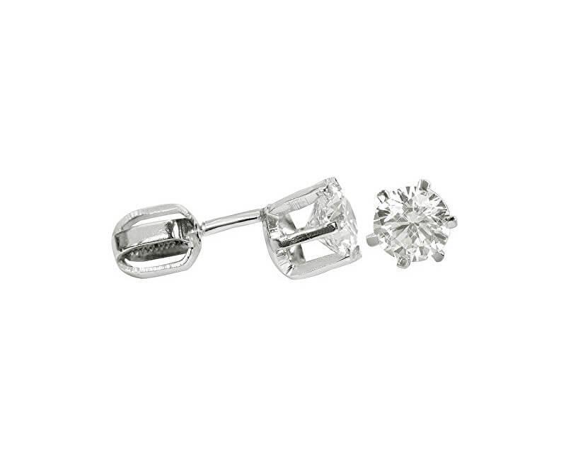 Brilio Silver Náušnice ze stříbra s krystalem 436 001 00173 04 - 1,36 g