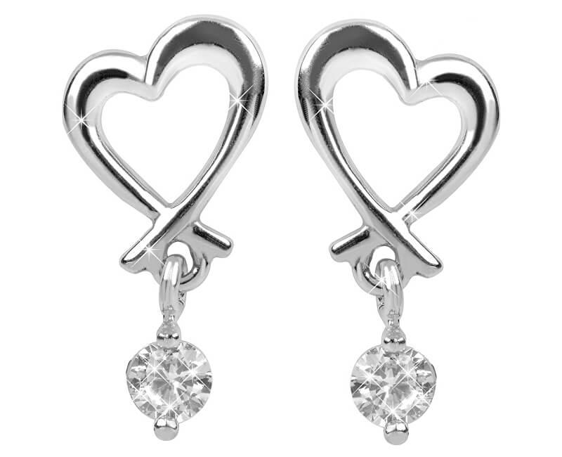 Brilio Silver Něžné náušnice Srdce 436 001 00447 04 - 1,48 g
