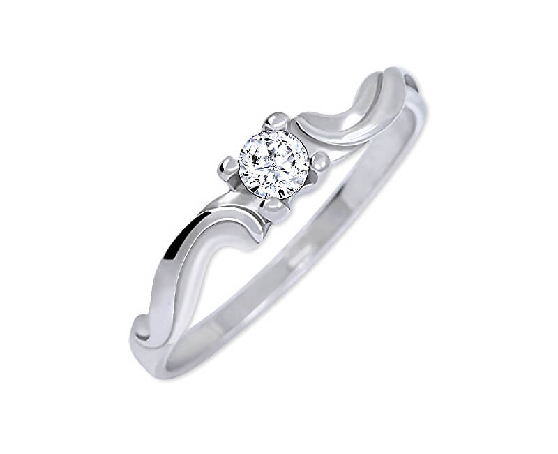 Brilio Silver Něžný zásnubní prsten 426 001 00495 04 - 1,03 g