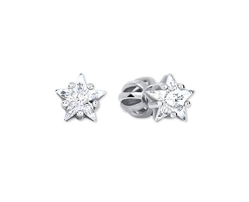 Brilio Silver Stříbrné hvězdičkové náušnice 438 001 01700 04