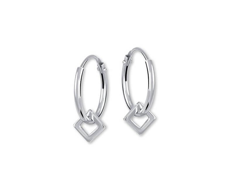 Brilio Silver Stříbrné náušnice kroužky 431 001 02498 04