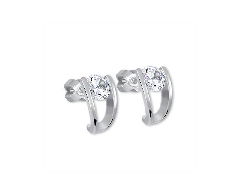Brilio Silver Stříbrné náušnice s krystalem 436 001 00237 04 - 1,95 g