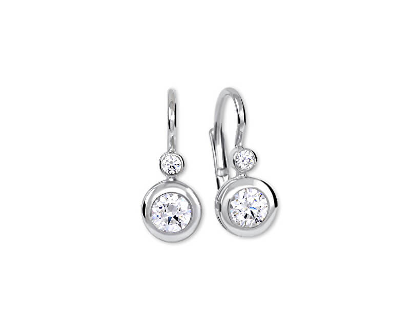 Brilio Silver Stříbrné náušnice s krystaly 436 001 00330 04