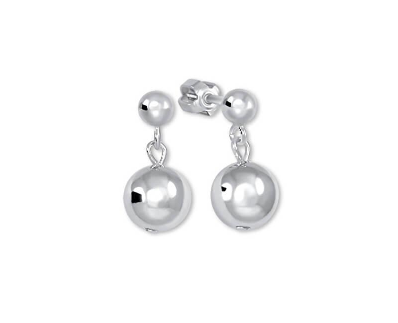 Brilio Silver Stříbrné náušnice s kuličkami 431 001 02736 04 - 1,87 g