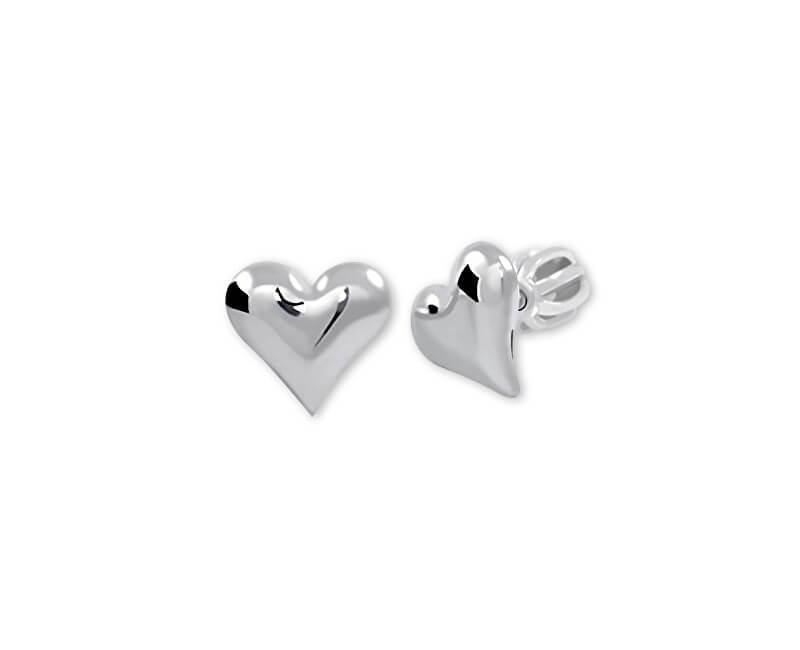 Brilio Silver Strieborné náušnice Srdce 431 001 00440 04 - 0 1291bc308af