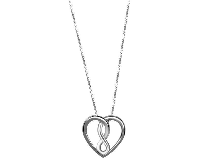 Brilio Silver Stříbrný náhrdelník Srdce 473 086 00067 04 - 2,93 g (řetízek, přívěsek)