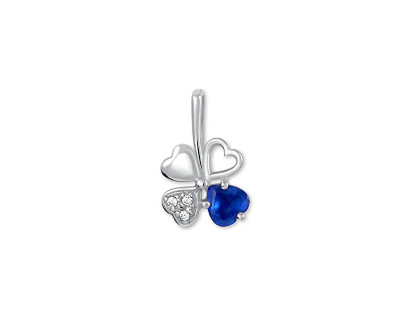 Brilio Silver Stříbrný přívěsek čtyřlístek 446 001 00349 04 - modrý - 0,43 g