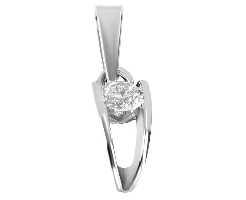 Brilio Silver Stříbrný přívěsek s kamínkem 446 001 00320 04 - 0,76 g