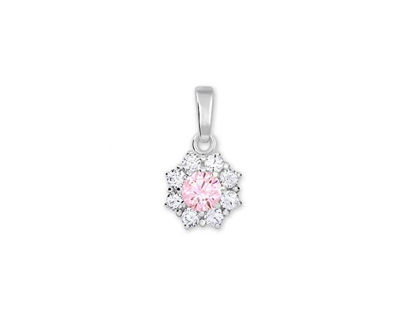 Brilio Silver Stříbrný přívěsek s krystalem 446 001 00314 04 - růžový