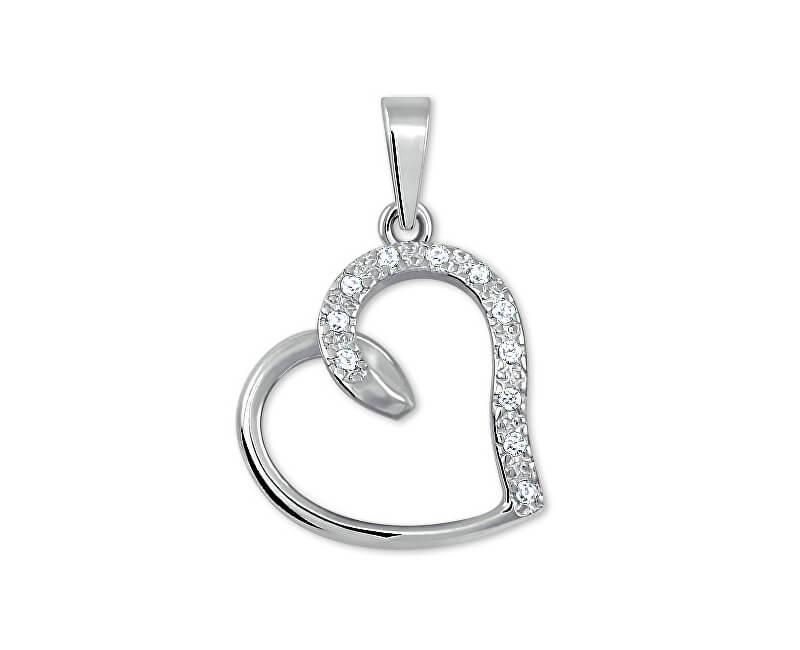 Brilio Silver Strieborný prívesok s kryštálmi Srdce 446 001 00345 04 ... d3e301351a1