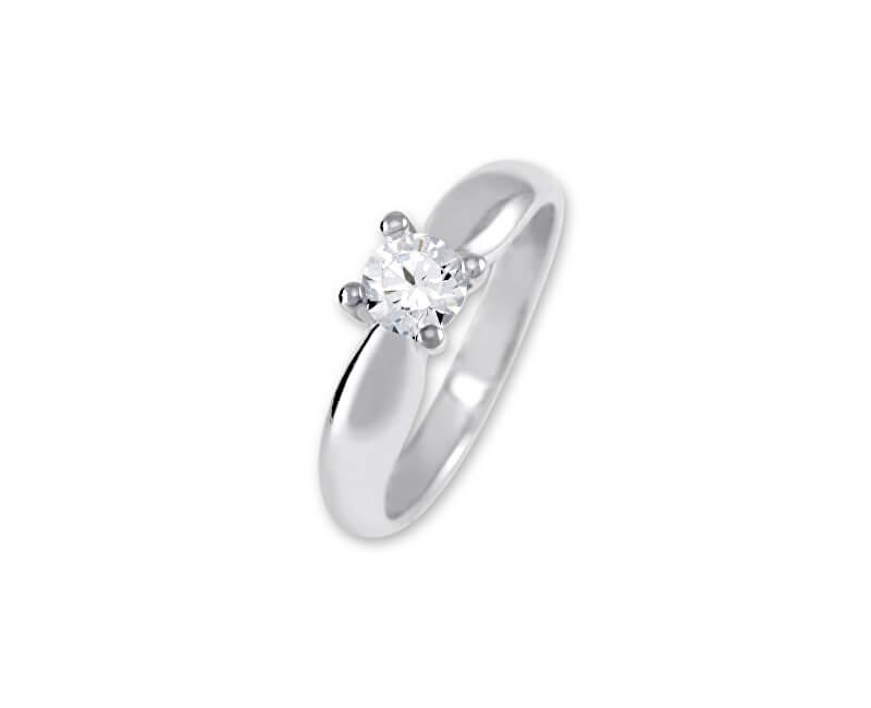 Brilio Silver Stříbrný zásnubní prsten 426 001 00401 04 - 2,35 g