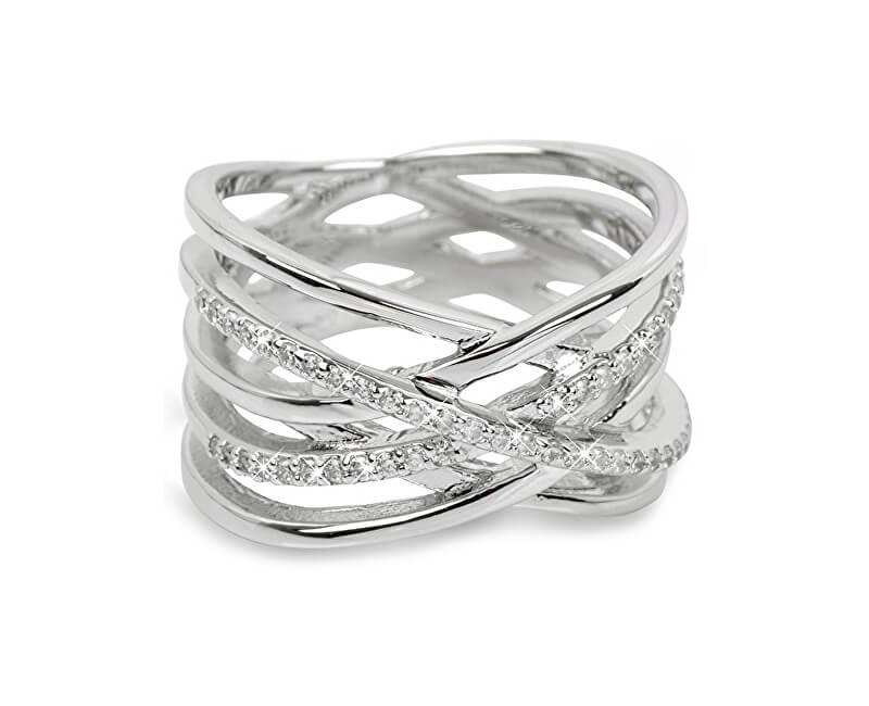 Brilio Silver Stříbrný prsten se zirkony 31G3071