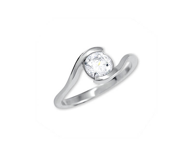 Brilio Silver Stříbrný zásnubní prsten 426 001 00422 04 - 1,98 g