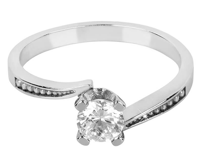 Brilio Silver Stříbrný zásnubní prsten 426 001 00500 04 - 1,95 g