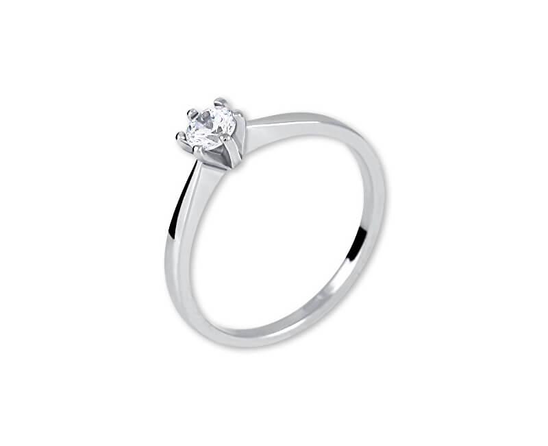 Brilio Silver Stříbrný zásnubní prsten 426 001 00501 04 - 1,40 g