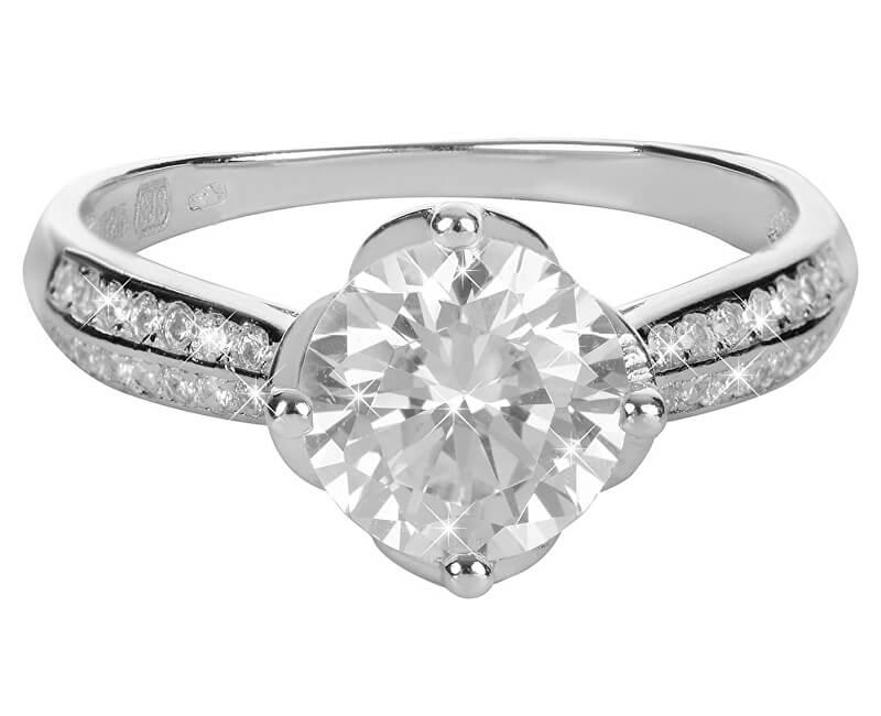 Brilio Silver Stříbrný zásnubní prsten 426 158 00073 - 2,88 g