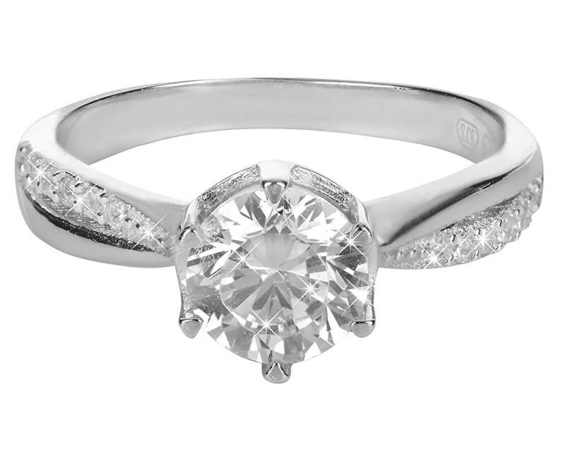 Brilio Silver Stříbrný zásnubní prsten 426 158 00111 04 - 2,30 g
