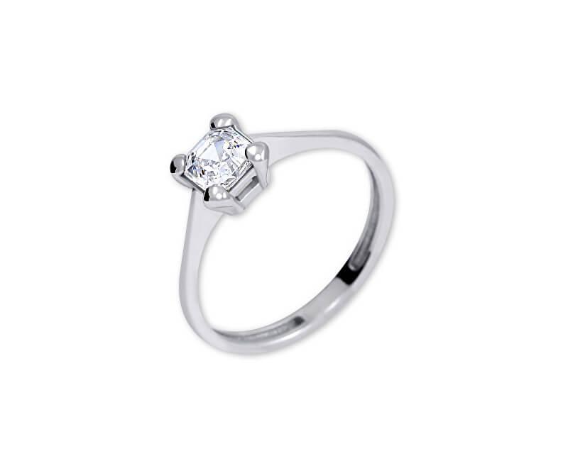 Brilio Silver Stříbrný zásnubní prsten s krystalem 426 001 00427 04 - 1,62 g