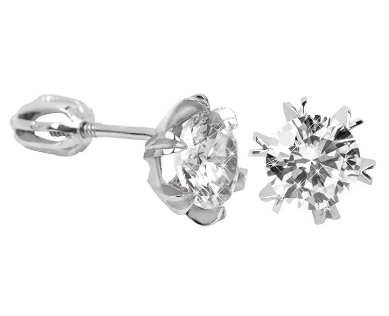 Brilio Silver Stříbrné náušnice s krystalem 436 001 00442 04 - 1,92 g