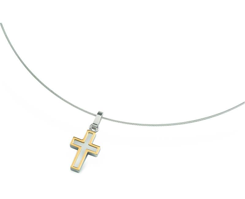 Boccia Titanium Bicolor titanový přívěsek Křížek 07015-01