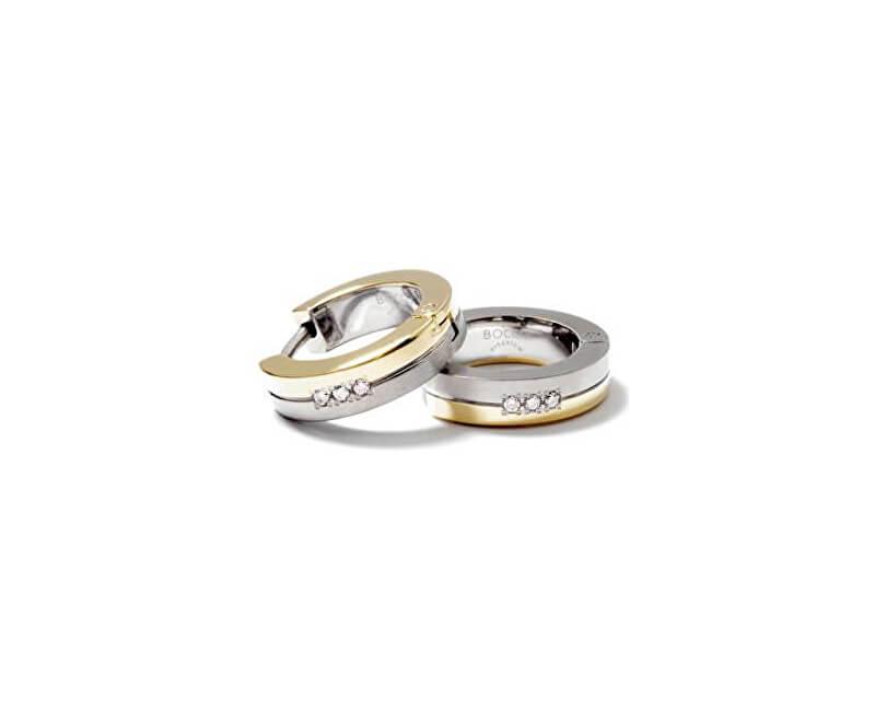 0f3931dd7 Boccia Titanium Pozlacené titanové náušnice s diamanty 0510-09 Novinka
