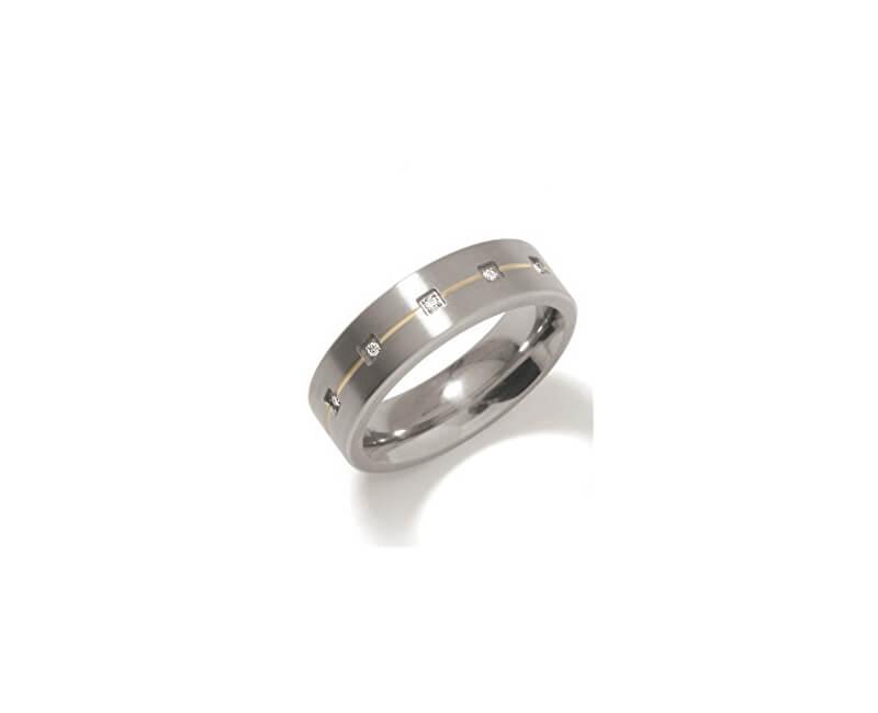 Boccia Titanium Snubní titanový prsten s diamanty 0101-19
