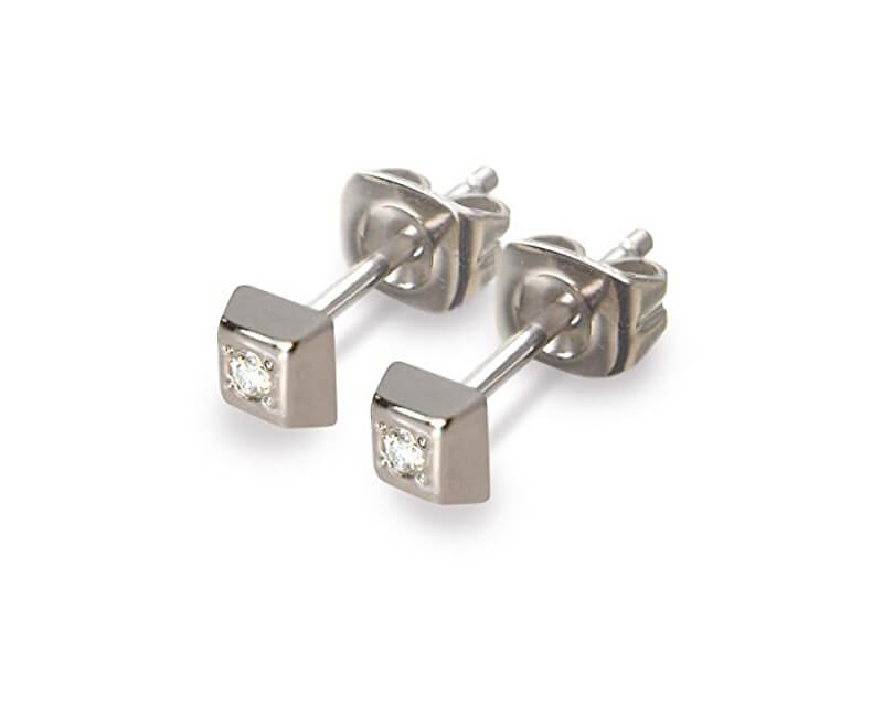 Boccia Titanium Titanové náušnice s diamantem 0538-01
